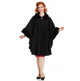 Voodoo Vixen Melrose Fur Trim Cape