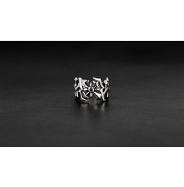 Ares Silver Ring,Rocker Ring,Biker Ring,Jewelry,Accessories,Unisex,Man,Lady