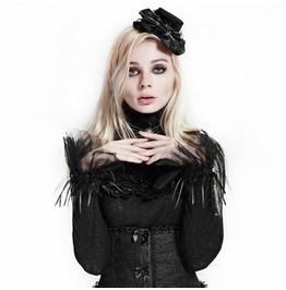Lace Flower Ruffles Gloves Fingerless Black White Goth Accessories