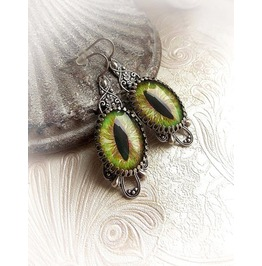 Cat Eye Earrings Gothic Earrings More Choices Dangle Victorian Earrings