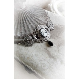 Cameo Lady Bracelet Gothic Victorian Handmade Jewelry
