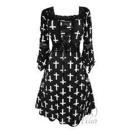 Sexy Gothic Victorian Square Neck Lace Trim Fairy Sleeve Renaissance Corset Dress In Joan Of Arc