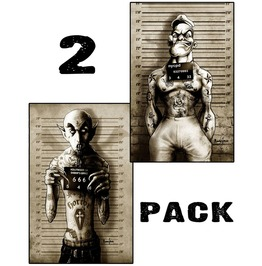 Matte Poster 12 X18 Tattooed Pop And Vampire Pack