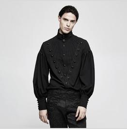 Punk Rave Men's Gothic Gorgeous Disc Floret Long Sleeve Shirt Y804