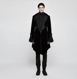 Punk Rave Men's Gothic Gorgeous Jacquard Swallow Tailed Jacket Y806