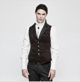 Punk Rave Men's Gothic Vintage Jacquard Waistcoat Y807