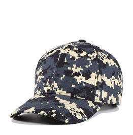 Men's Camouflage Plain Adjustable Baseball Cap Cotton Hat