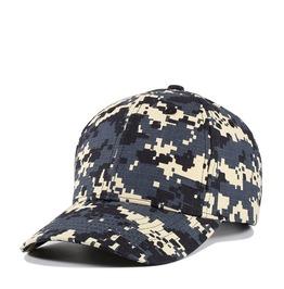 Men's Camouflage Plain Adjustable Baseball Cap Cotton Hat