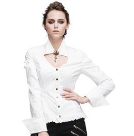 Women's White Two Way Collar Shirt