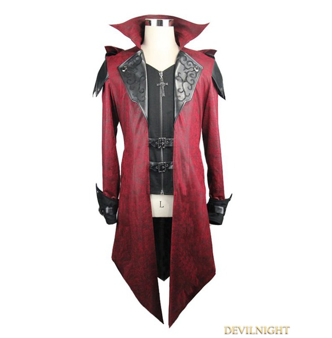 rebelsmarket_black_and_red_vintage_pu_leather_gothic_trench_coat_for_men_ct06902_coats_4.jpg