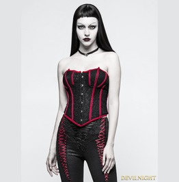 Black And Red Gothic Bat Corset Y 779 Rd