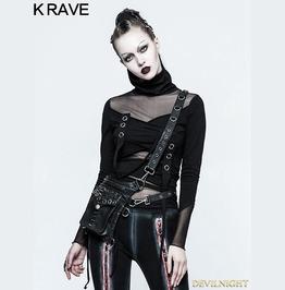 Pu Leather Gothic Punk Multifunction Bag S 222