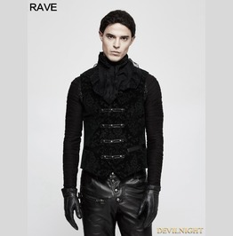 Green Gothic Printing Vintage Pattern Vest For Men Y 813 Gr