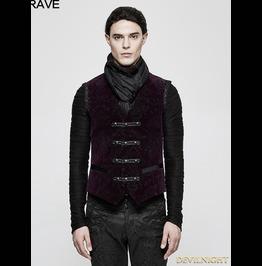 Purple Gothic Printing Vintage Pattern Vest For Men Y 813 Vl