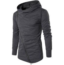 Diagonal Zipper Slim Assassins Creed Hoodies Sweatshirt Men