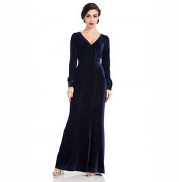 Voodoo Vixen Nicki 30's Navy Velvet Gown