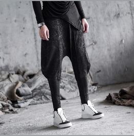 Personalised Mens Baggy Harem Pants Low Crotch Casual Pants