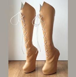 Rtbu Saturn Sailor Moon Cosplay Anime Knee Hi Heelless Pony Hoof Boot Camel