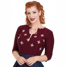 Voodoo Vixen Chloe Floral Sweater