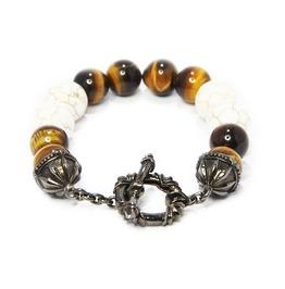Troy:1 Stone Bracelet,Silver Bracelet,Bracelet,Unisex,Man,Rocker,Gothic,