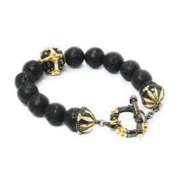Troy:3 Stone Bracelet,Silver Bracelet,Bracelet,Unisex,Man,Rocker,Gothic,