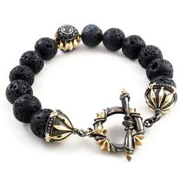 Troy:4 Stone Bracelet,Silver Bracelet,Bracelet,Unisex,Man,Rocker,Gothic,