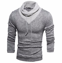High Collar Slim Fit Men Sweater Tracksuit