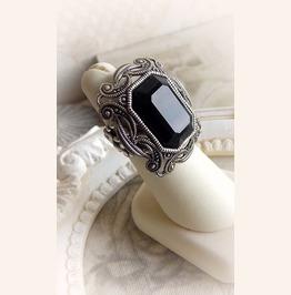 Black Gothic Swarovski Crystal Royal Dark Handmade Jewelry