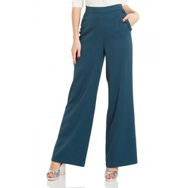 Voodoo Vixen Sara Blue 40s Style Trousers
