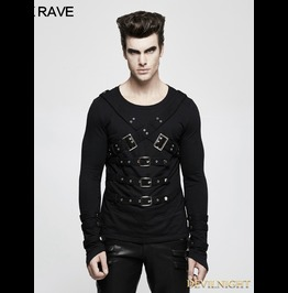 Black Gothic Punk Pullover T Shirt For Men T 486