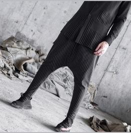 New Hip Hop Fashion Mens Striped Baggy Harem Pants