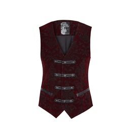 Steampunk Victorian Mens Elegant Red Vest Y 813