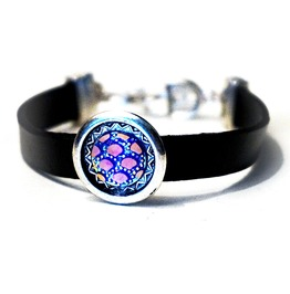 Leather Bracelet Cuff Hippie Clothing Psychedelic Trance Boho Chic Festival