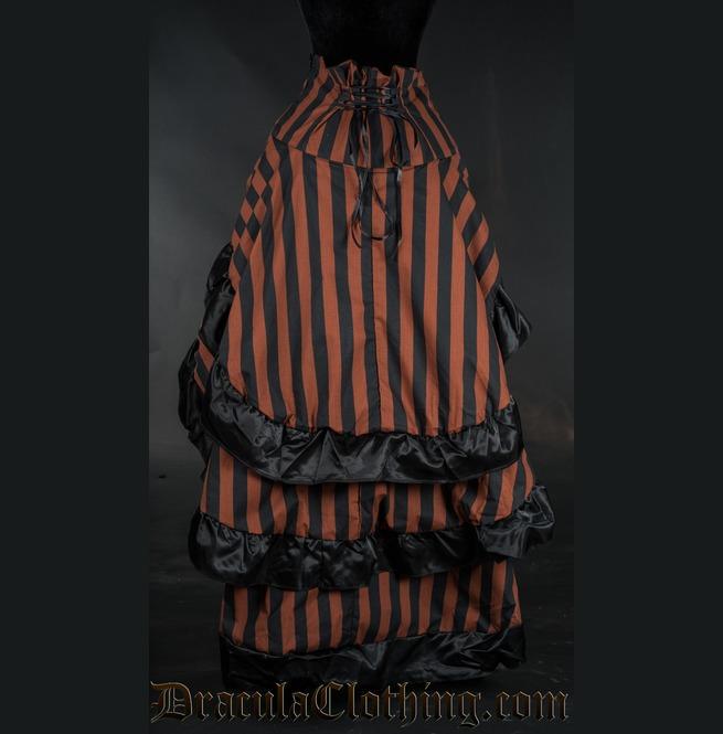 rebelsmarket_brown_black_striped_long_bustle_3_layer_victorian_goth_steampunk_skirt__skirts_6.jpg