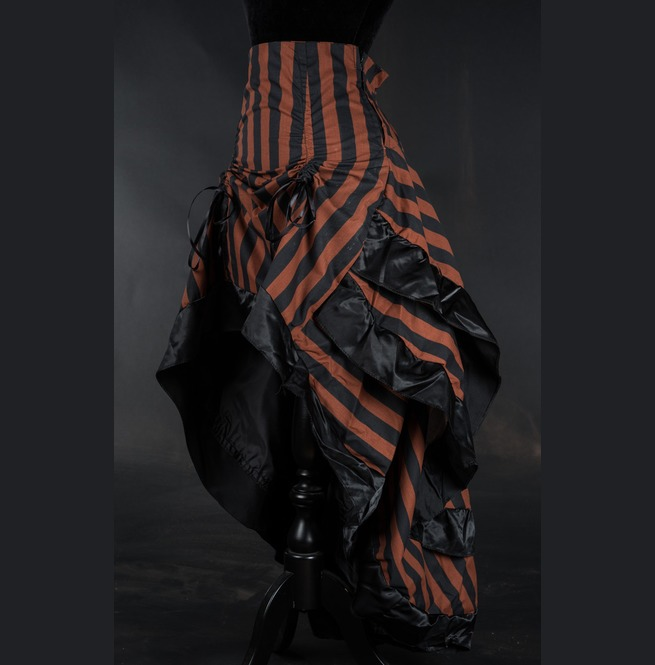 rebelsmarket_brown_black_striped_long_bustle_3_layer_victorian_goth_steampunk_skirt__skirts_5.jpg