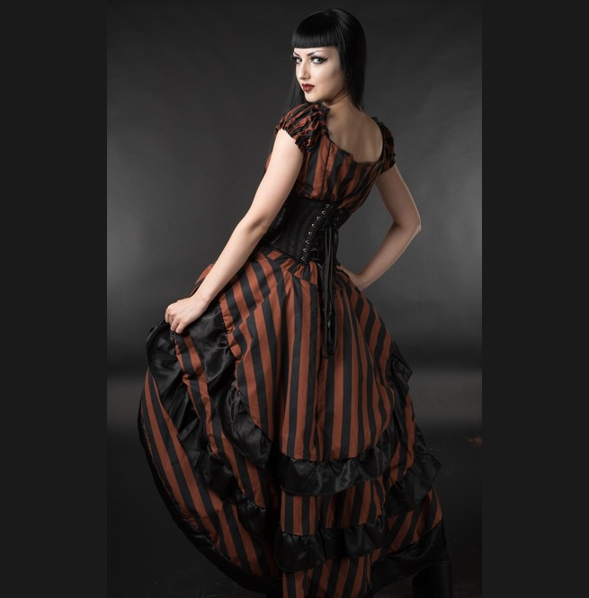 rebelsmarket_brown_black_striped_long_bustle_3_layer_victorian_goth_steampunk_skirt__skirts_2.jpg