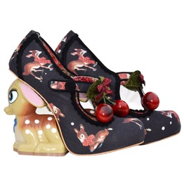 Buckle Strap Deer Print Cherries Deer Heel Goth Lolita Shoes