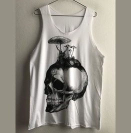 Skull Streetwear Indie Fashion Pop Rock Unisex Tank Top Vest M