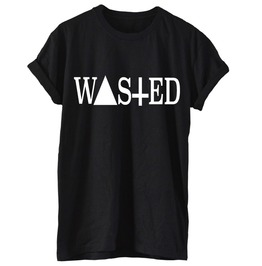 Wasted T Shirt Tee Coke Rum Indie Party Dope Blogger Sayings Quote Swag