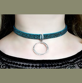 Submissive Collar Choker O Ring Necklace Hippie Pendant Hippies Clothing