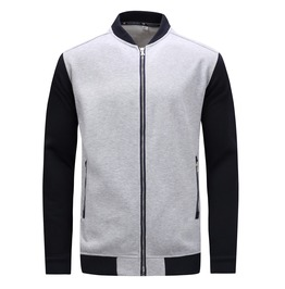 Men's Contrast Sleeve Slim Fitted Bomber Jacket