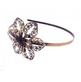 Fashion Vintage Handmade Metal Antique Bronze Filigree Rose Flower Headband