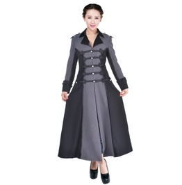 Women's Military Style Long Gothic Coat