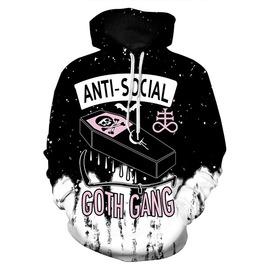 3 D Print Anti Social Goth Gang Sweatshirts Hoodies