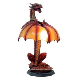 Red Dragon Table Lamp