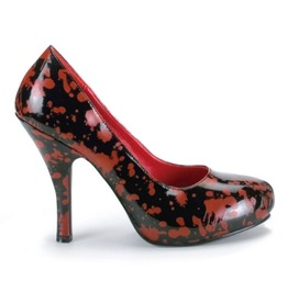Women's Bloody Black And Red Splattered Pumps