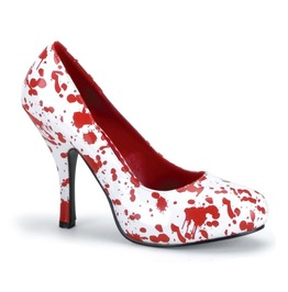 Women's Bloody White And Red Splattered Pumps