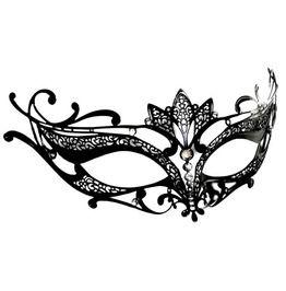 's Floral Elegant Openwork Mask With Rhinestones
