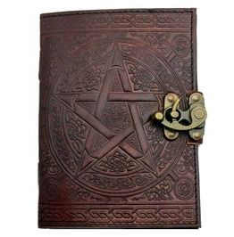 Pentacle Brown Leather 7 Inch Journal With Latch