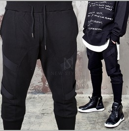 Webbing Tape Accent Banding Hem Sweatpants 270